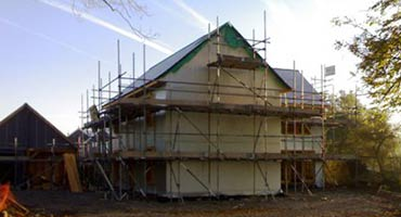 House Being built near Cowbridge Vale of Glamorgan